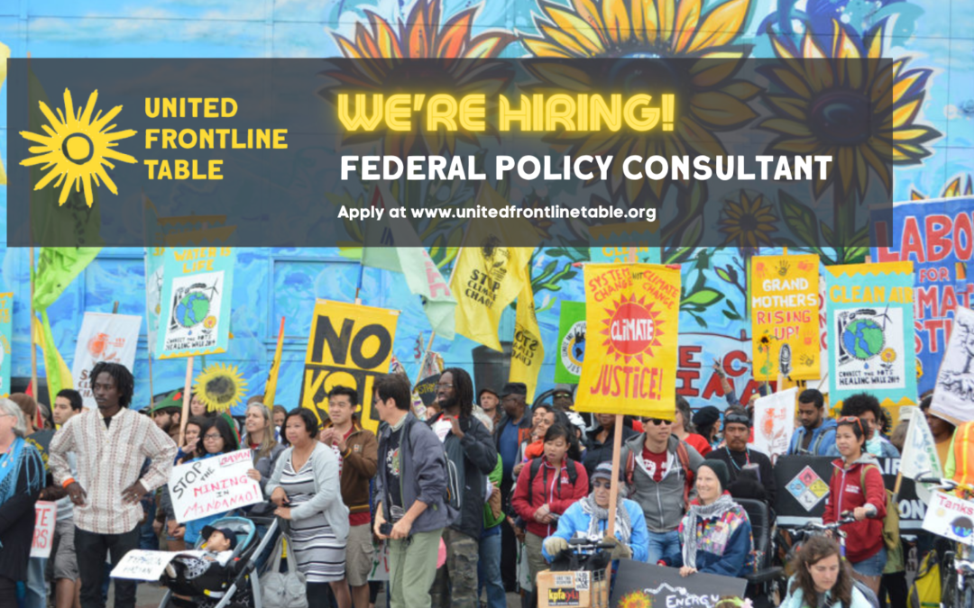 United Frontline Table Federal Policy Consultant Position Announcement